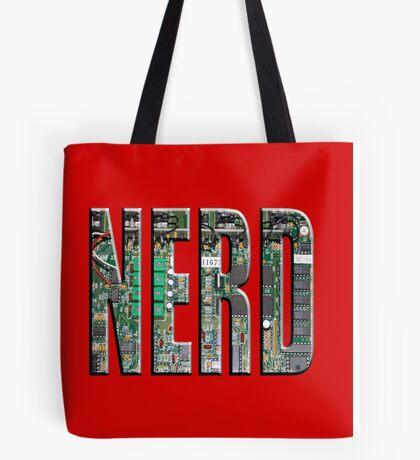 NERD Computer Motherboard Letters Tote Bag