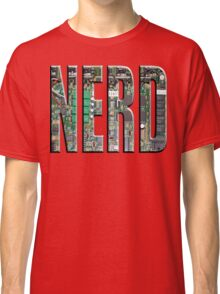 NERD Computer Motherboard Letters Classic T-Shirt