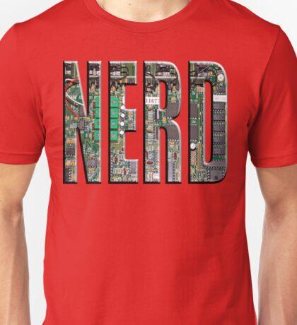 NERD Computer Motherboard Letters Unisex T-Shirt
