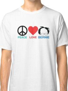 Peace,Love,Bernie Classic T-Shirt