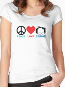 Peace,Love,Bernie Women's Fitted Scoop T-Shirt