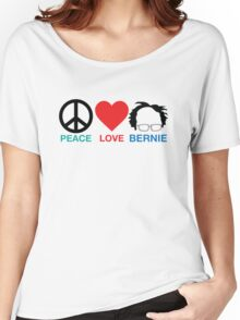Peace,Love,Bernie Women's Relaxed Fit T-Shirt