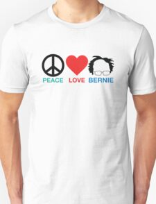 Peace,Love,Bernie T-Shirt