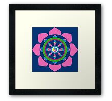 Dharma wheel Framed Print