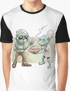 Zombies Share Pie Graphic T-Shirt