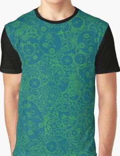 Clockwork Turquoise & Lime Graphic T-Shirt