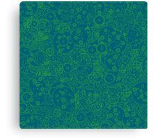 Clockwork Turquoise & Lime Canvas Print