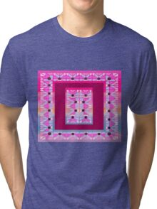 Cute and cool style desing love patchwork Tri-blend T-Shirt