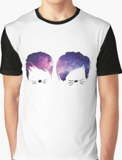 Dan and Phil Galaxy Graphic T-Shirt