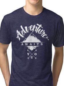 Adventure Awaits You - Cool Outdoor Shirt-Design Tri-blend T-Shirt