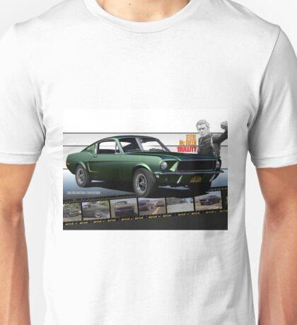 Steve McQueen Bullitt 1968 Ford Mustang Unisex T-Shirt