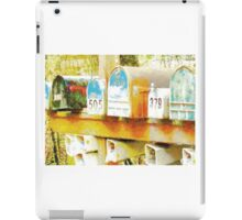Spring: expectant mailboxes iPad Case/Skin