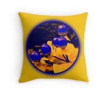 Berries yellow Throw Pillow