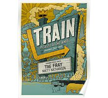 Train Picasso Bulletproof at the Wheel Summer Tour Poster