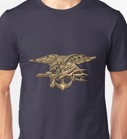 U.S. Navy SEALs Trident over Blue Velvet Unisex T-Shirt