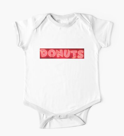 Neon Sign - Donuts One Piece - Short Sleeve