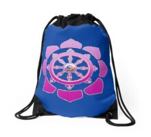 Dharma wheel Drawstring Bag
