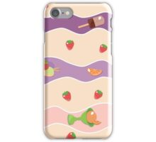 Violet and pink waves. iPhone Case/Skin