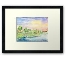 By the Riverbank Framed Print