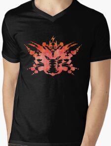Pikachu Rorschach Test (Red) Mens V-Neck T-Shirt
