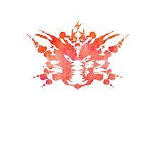 Pikachu Rorschach Test (Red) Photographic Print
