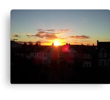 Suburb Sunset Canvas Print