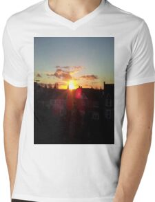 Suburb Sunset Mens V-Neck T-Shirt