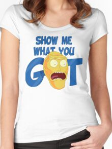 SHOW ME WHAT YOU GOT Women's Fitted Scoop T-Shirt