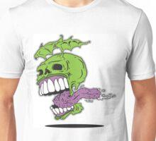 Winged Tongue Skull Unisex T-Shirt
