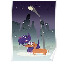 Night City Dogs Poster