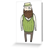 Gentleman with monocle Greeting Card
