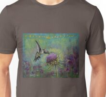 Purple Haze Hummingbird Art by Rachael Rose Unisex T-Shirt