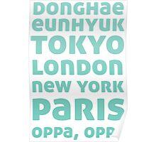 Oppa Oppa (Blue Ver) Poster