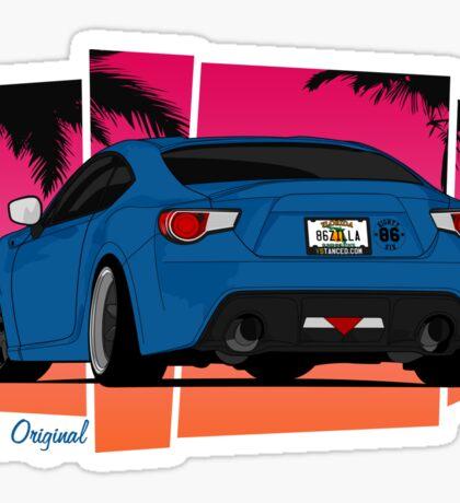 86ZILLA - Blue - Sticker Sticker