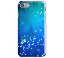 Blue Optical Fibers iPhone Case/Skin