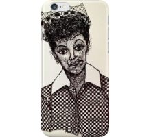 Lucy Lucille Ball Vintage Look Scribble Art iPhone Case/Skin