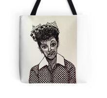 Lucy Lucille Ball Vintage Look Scribble Art Tote Bag