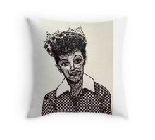 Lucy Lucille Ball Vintage Look Scribble Art Throw Pillow