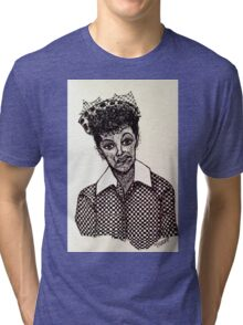 Lucy Lucille Ball Vintage Look Scribble Art Tri-blend T-Shirt