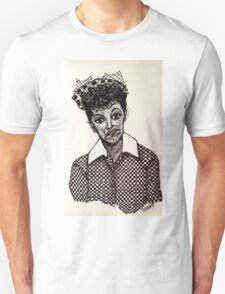 Lucy Lucille Ball Vintage Look Scribble Art Unisex T-Shirt