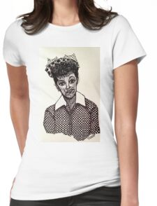Lucy Lucille Ball Vintage Look Scribble Art Womens Fitted T-Shirt