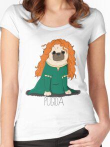 Pugida! Women's Fitted Scoop T-Shirt