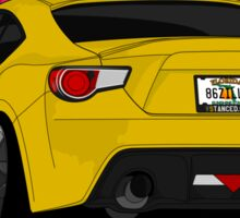 86ZILLA - Yellow - Sticker Sticker