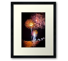 The Beautiful Orange Candles in July Framed Print