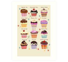 Fantasy cupcakes Art Print
