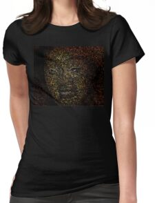 Mask of the Happy Man Womens Fitted T-Shirt