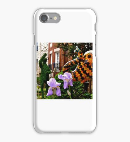 Elephant, Friend and Iris iPhone Case/Skin