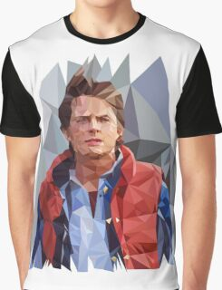 Marty McFly Polygons Graphic T-Shirt