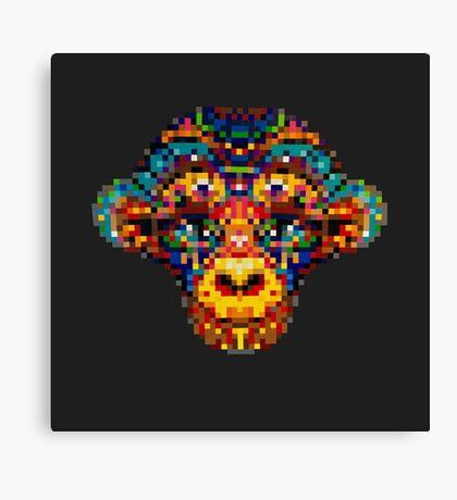 Pixel Primate Canvas Print