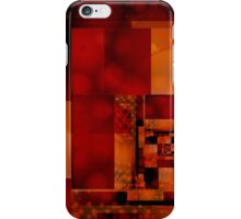 City Abstract - Fire Red iPhone Case/Skin